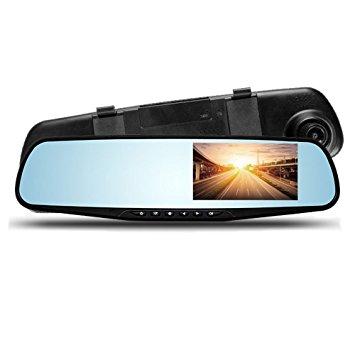 آینه مانیتور دار ۴٫۳ اینچ(ضبط وقایع جاده) فول اچ دی دو دوربین(عقب و جلو)