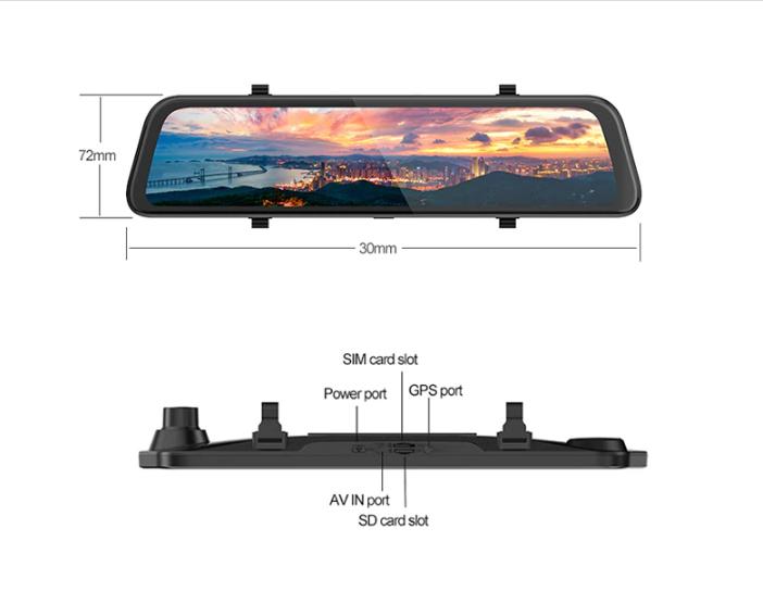آینه مانیتور دار هوشمند سیمکارتخور اندروید 12 اینچ