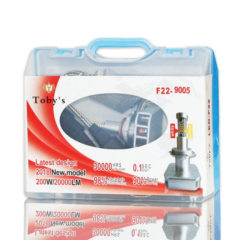 هدلایت دورنگ 200w توبی مدل F22
