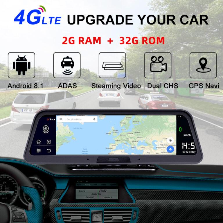 مانیتور ,دوربین رو داشبوردی خودرو سیم کارت خور 4G مدل Q98