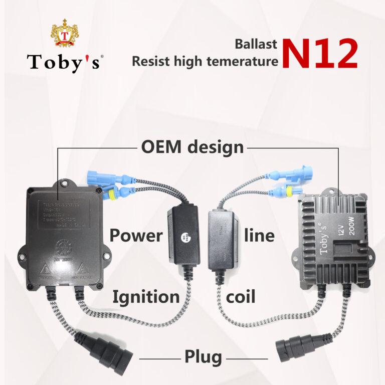زنون 200 وات توبی مدل N12