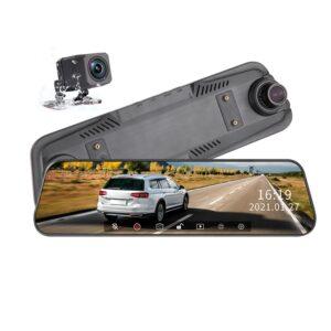 آینه مانیتوردار 12 اینچی فول تاچ و فول اسکرین تک دوربین